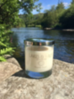 Our soy candle photographed in Grasmere