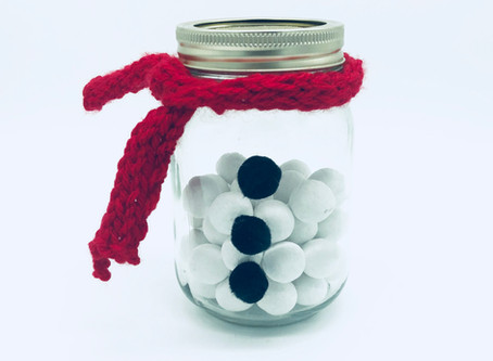 How To Make A Snowman Sweet Jar