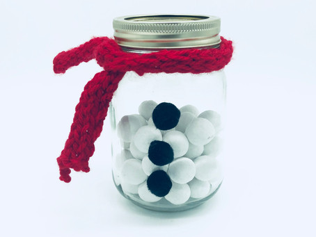 How To Make A Snowman Sweet Jar