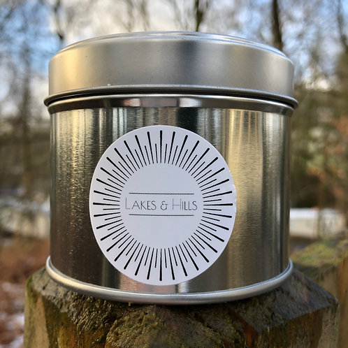 Autumn/Winter Soy Wax Candles 200g Silver Tin