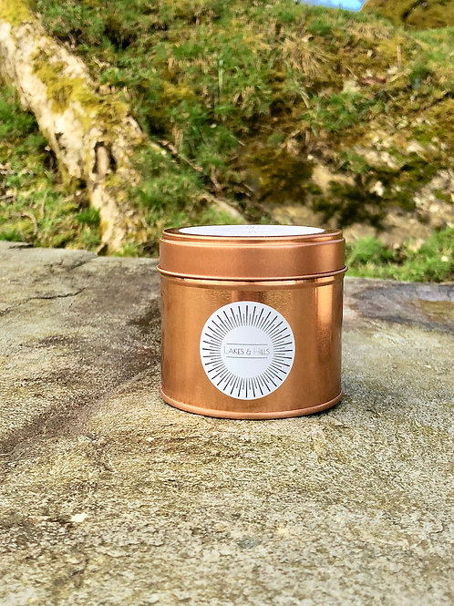 Spring/Summer Rose Gold Tin Soy Wax Candle 200g