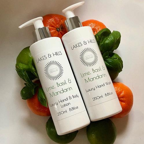Lime, Basil & Mandarin Hand Wash & Body Lotion