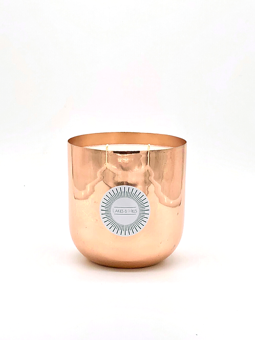 Rose Gold/Copper Smooth Metal Soy Wax Candle - Large 450g