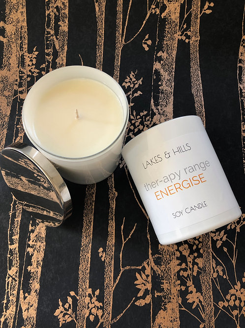 Energise | Frankincense, Lavender and Orange | Aromatherapy Candle