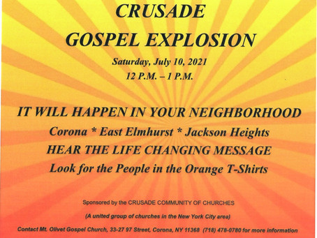 Join Antioch's Rainbow Keepers Missionary & Evangelism Ministry Saturday in Front of Antioch