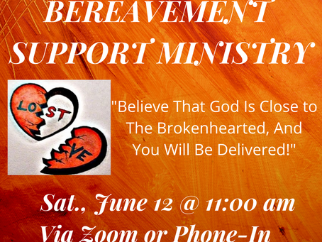 Bereavement Support Ministry