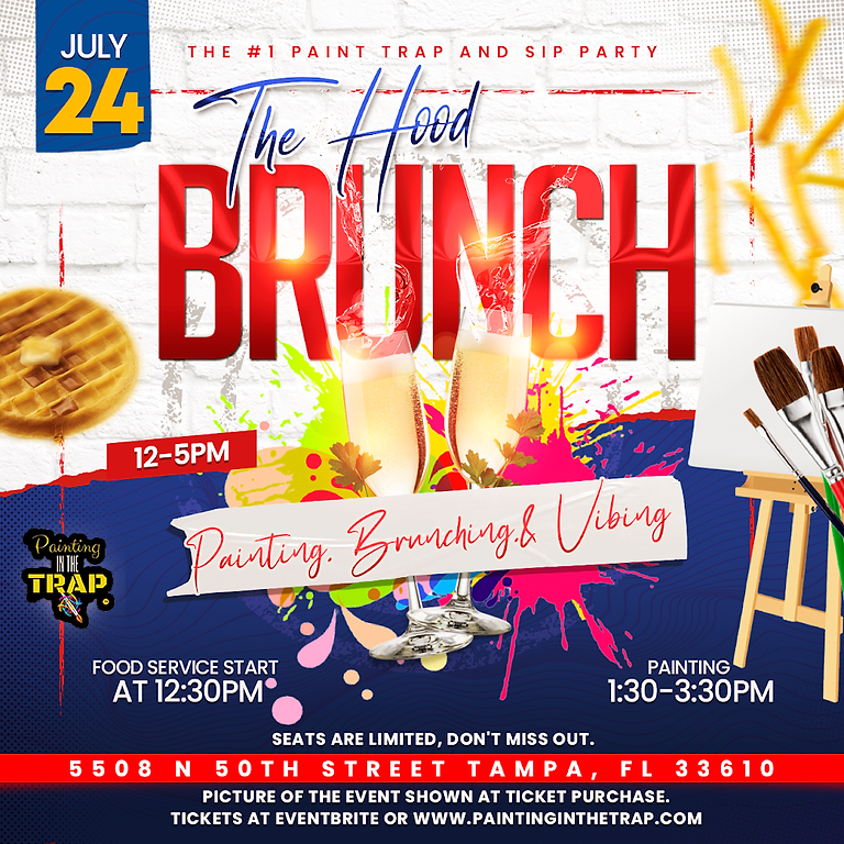 The Hood Brunch- Painting in the Trap Event