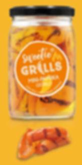 Gegrillte Paprika Delikatessen Antipasti Feinkost Mini-Paprika gelb sweetie GRILLS süß-mild