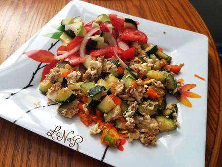 Легкое яично-овощное рагу