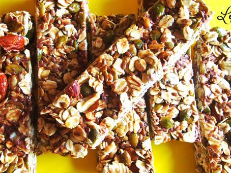 Гранола-бары с тыквенными семечками и шоколадом