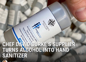 Chef David Burke's Supplier Turns Alcohol Into Hand Sanitizer