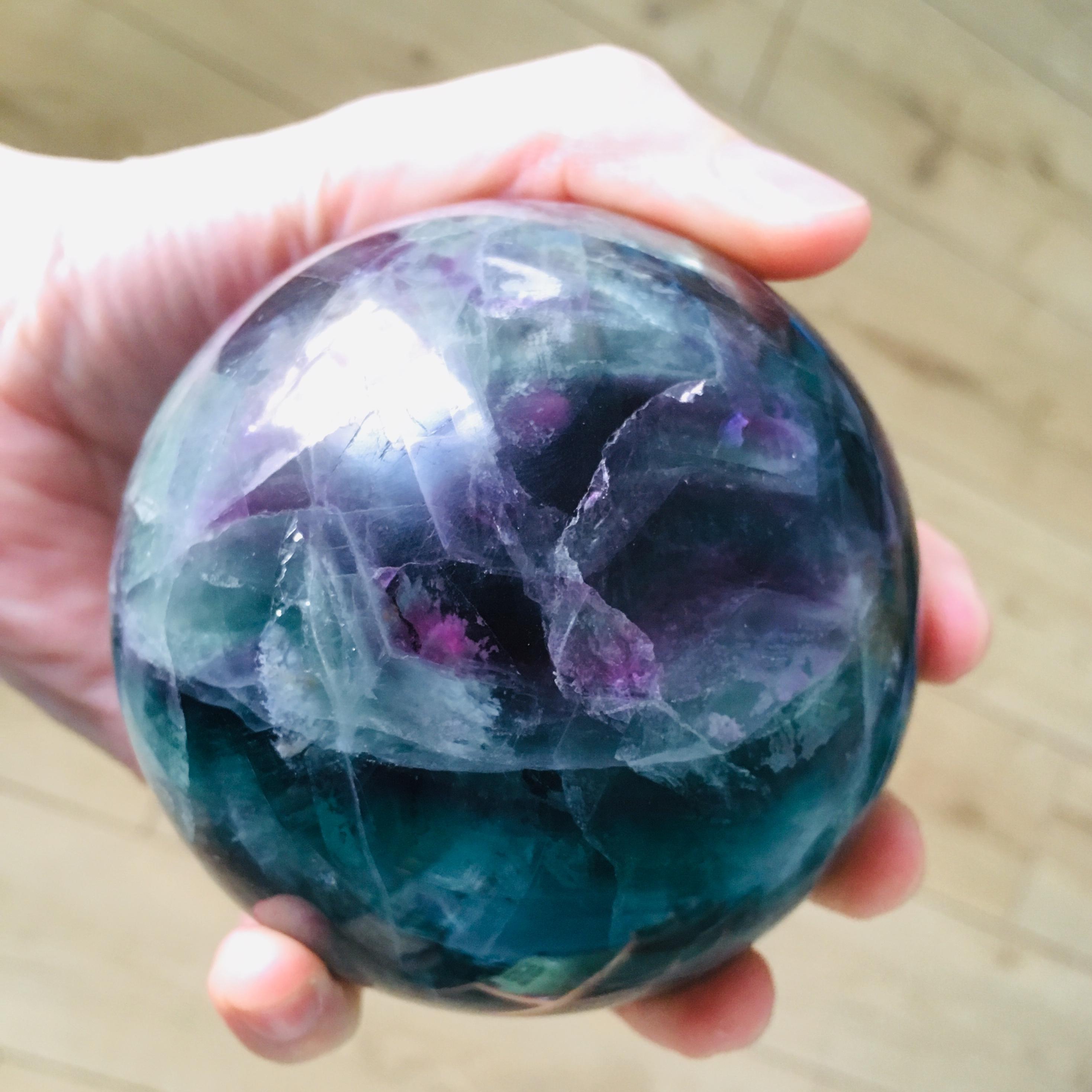 1kg Fluorite Crystal Sphere