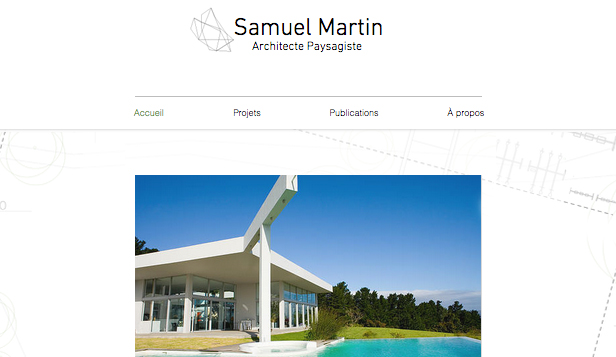Immobilier website templates – Architecte Paysagiste
