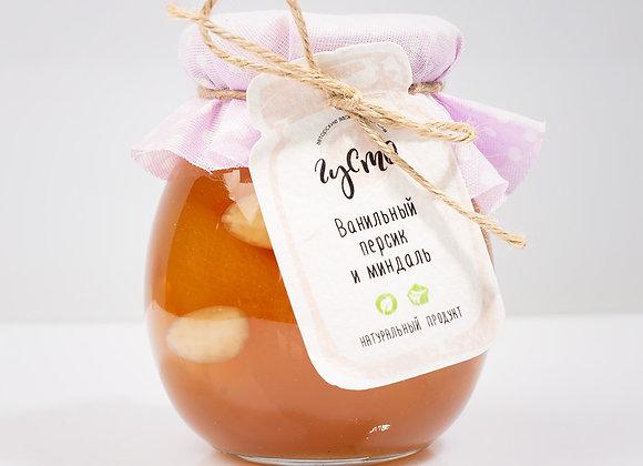Ванильное персиковое варенье с миндалем