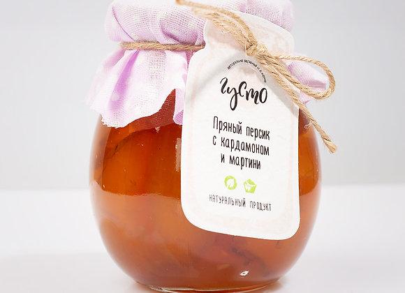 Пряное персиковое варенье с кардамоном и мартини