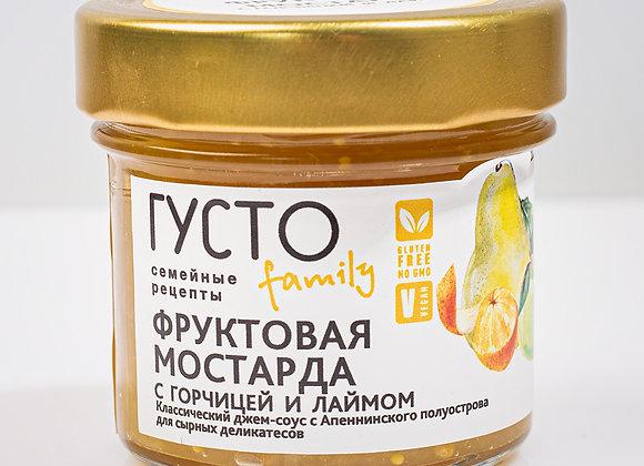 Фруктовая мостарда с горчицей и лаймом
