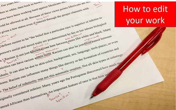 How to edit your work