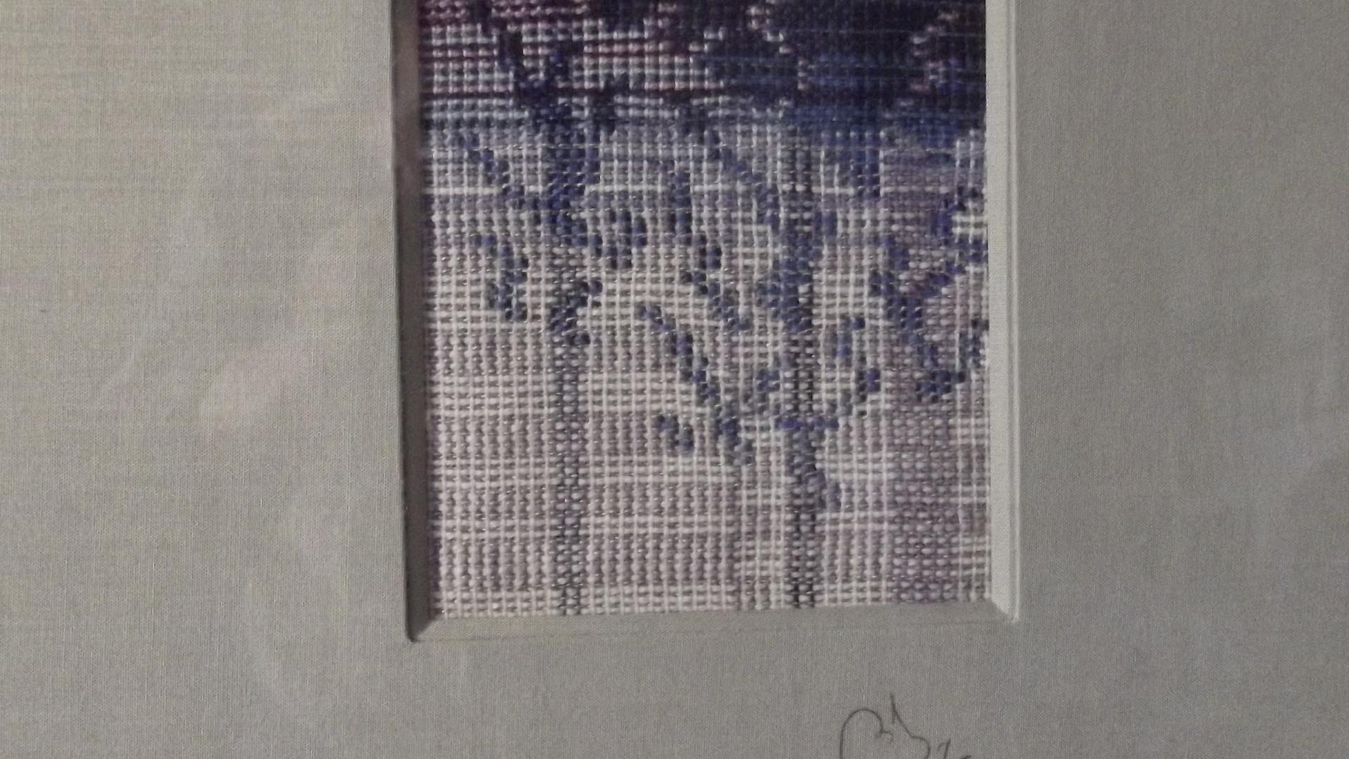 Motif  bleu-blanc