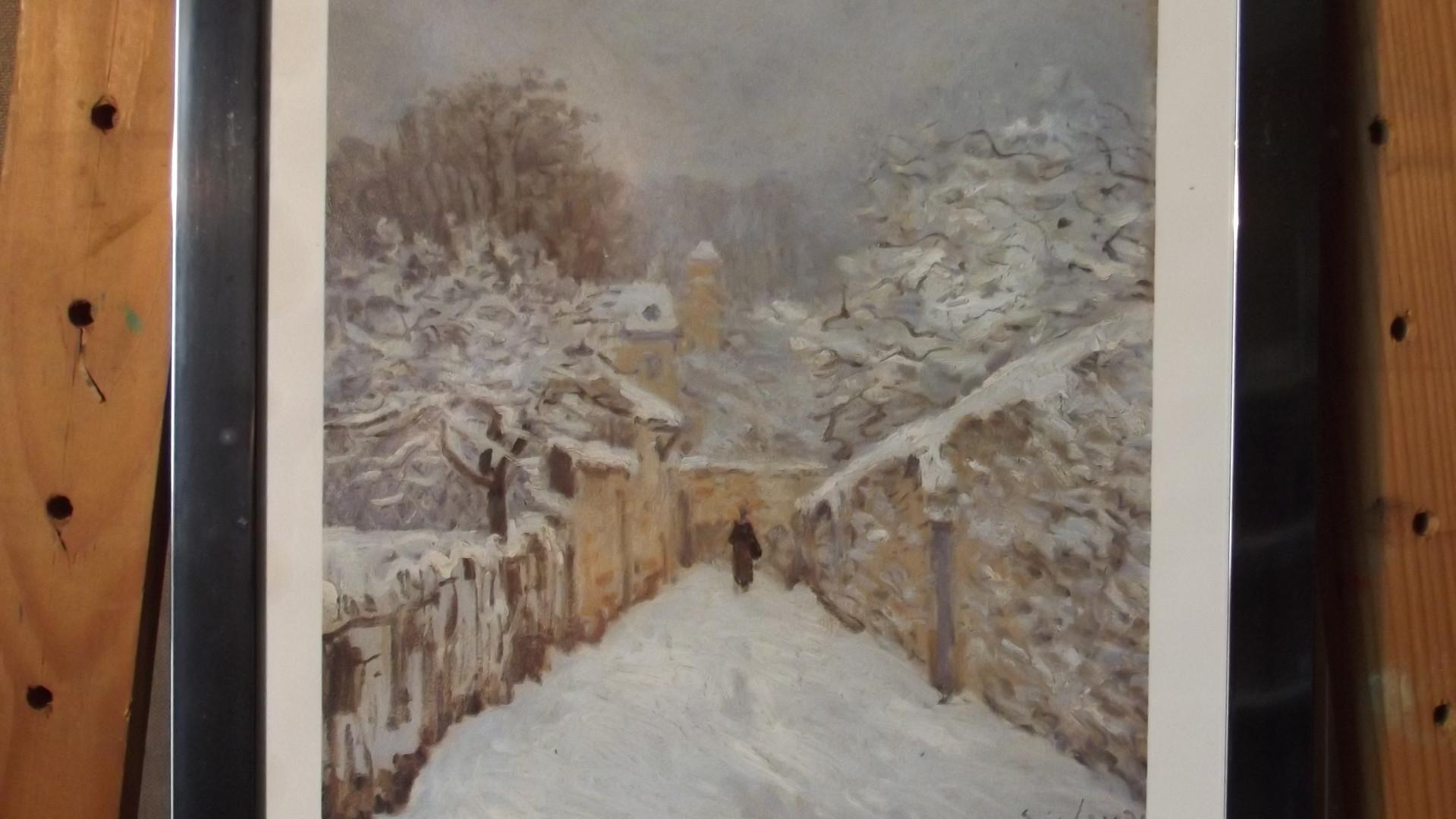 Neige à Louveciennes