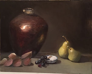Pears with Pottery