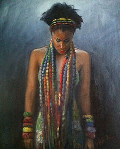 Woman in Beads