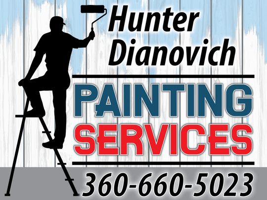 Hunter Dianovich Yard Sign