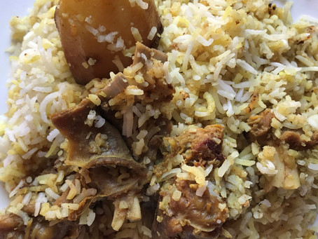The art of Kolkata Style Mutton Dum Biryani