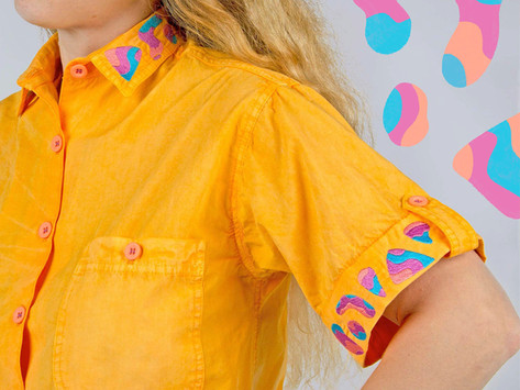 Embroidered Airplane Blouse