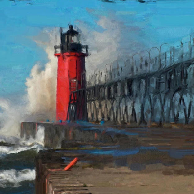 ''Red lighthouse''