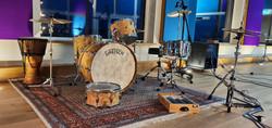 Drumset Gretch im Aufnahmeraum 1