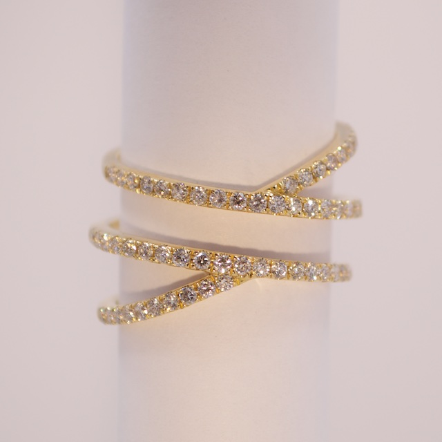 Contemporary Wrap Diamond Ring