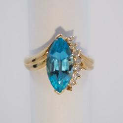 Blue Topaz Dinner Ring