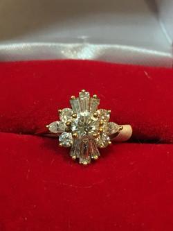 Starburst Gold Ring