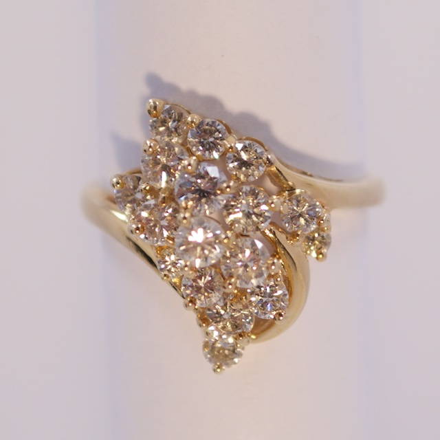 Stacked Diamond Dinner Ring