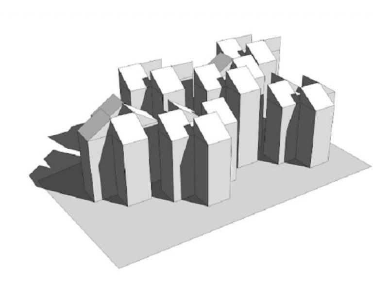 Thiết kế hình khối phân tán để che nắng và tạo bóng râm hiệu quả, giúp giảm năng lượng cho hệ thống HVAC (Ảnh 3D hình khối công trình The Villa Hội An (Hình ảnh: Edeec)