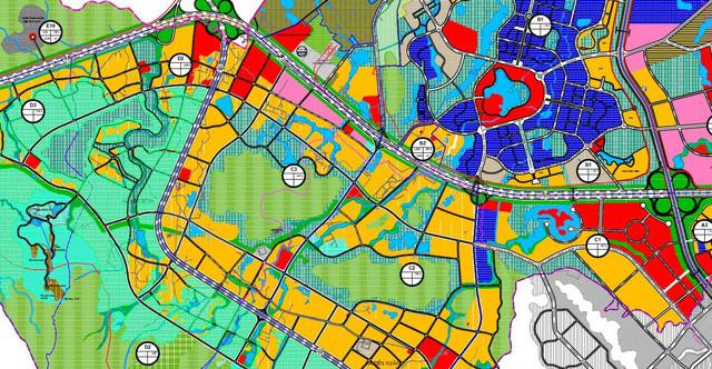 Khu vực quy hoạch chuỗi đô thị nhà ở tại đô thị vệ tinh Hòa Lạc