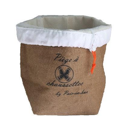 Pair-in-box classique - 1 panier marron champêtre + 1 filet cordon orange