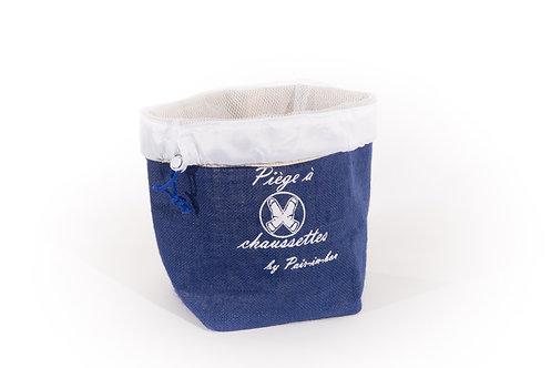 Pair-in-box classique  1 panier Bleu marine+ 1 filet cordon bleu marine