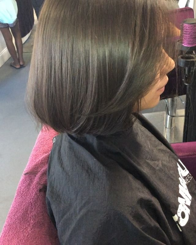 Our lovely client came to us for a bob c