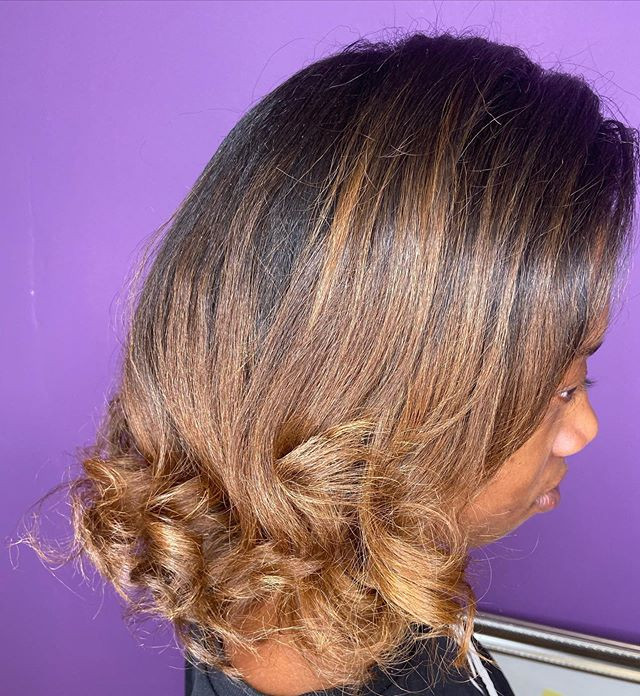 Ombré for our lovely client 💜 swipe rig
