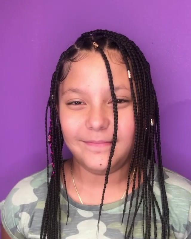 Finally got her box braids done 💜 by Va
