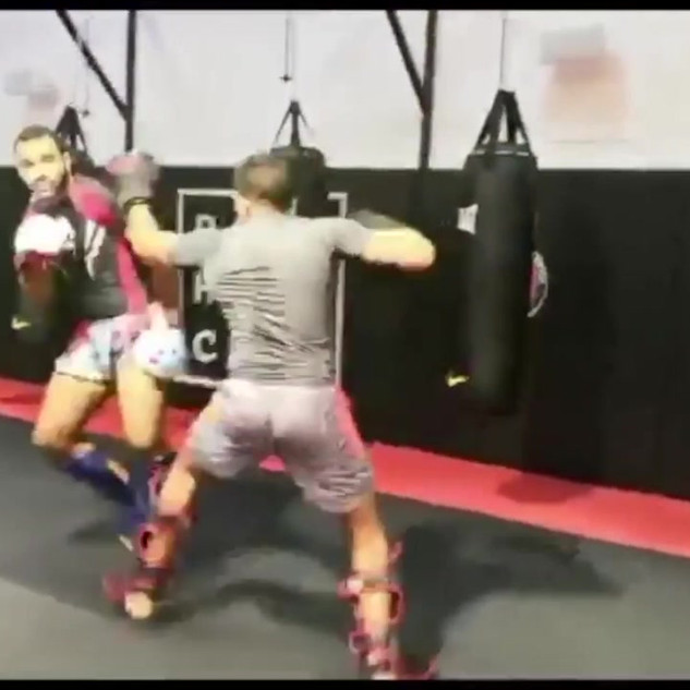 18.10 sparring with the team P1
