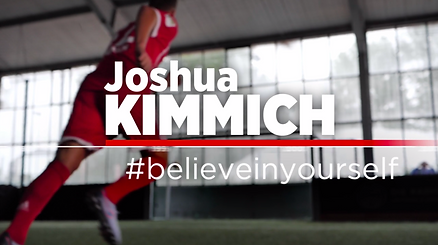 Joshua Kimmich in der zehnteiligen Doku-Serie Glaub an Dich unterstützt durch das isar film Team