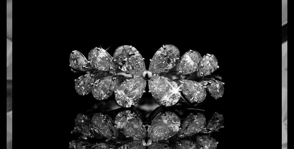 Damascene Jasmine Ring