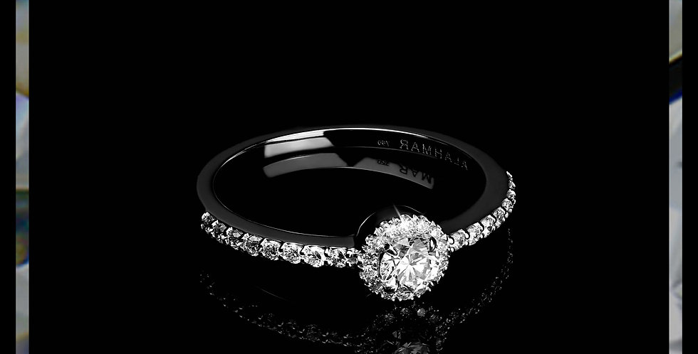 Le Soleil Simple Halo Ring