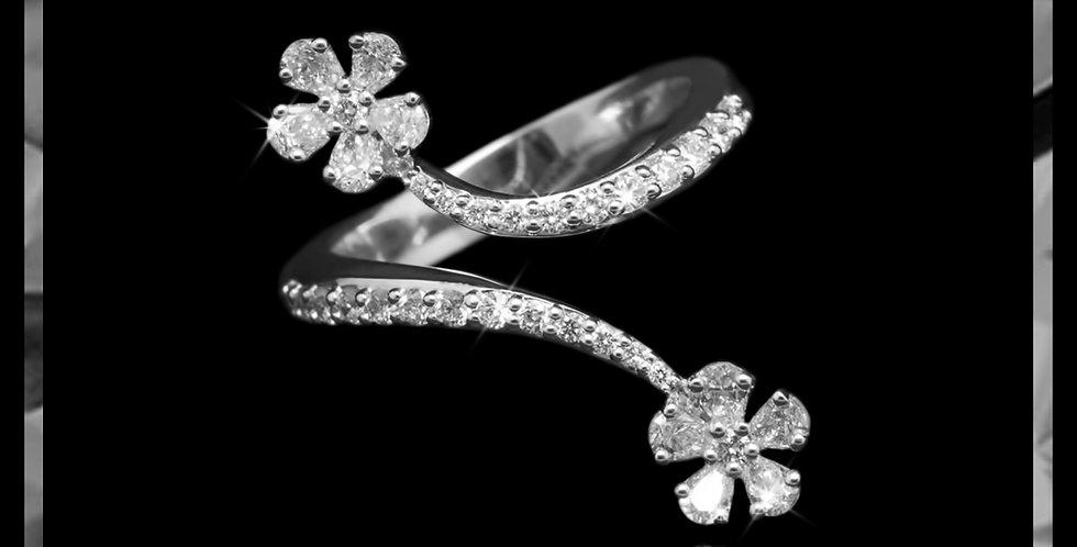 Damascene Blossom Ring