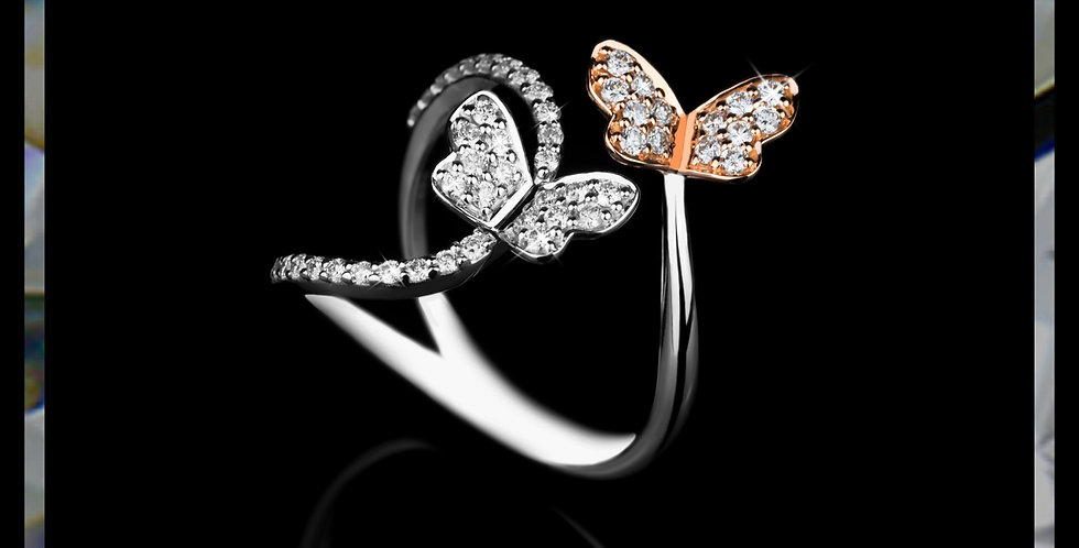 Damascene Butterflies Ring
