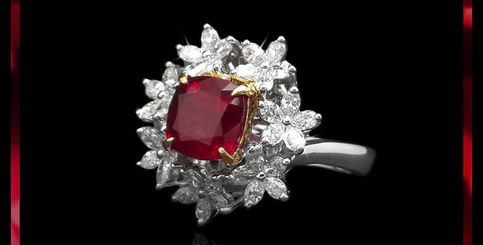 Avantgarde Ruby Jasmine Ring