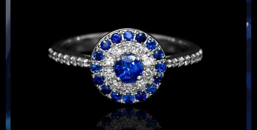 Le Soleil Sapphire Pancake Ring