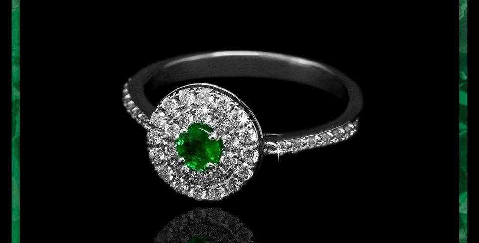 Le Soleil Emerald Ring